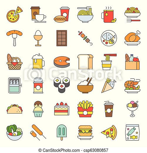 food and drink icon, gastronomy concept filled outline - csp63080857