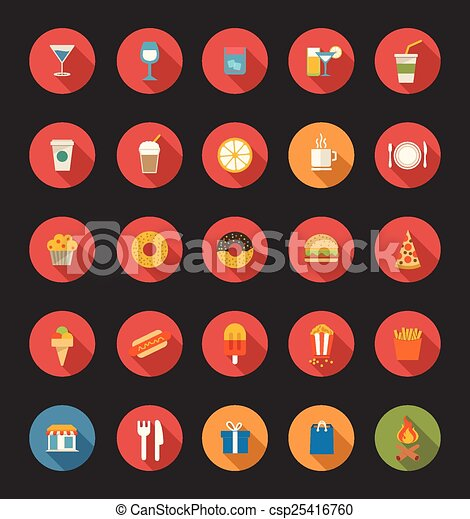 Food And Drink Icons - csp25416760