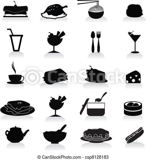food and drink icons - csp8128183