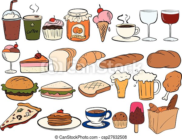 different type of food and drinks vector clipart search rh canstockphoto com food vector template food vector psd