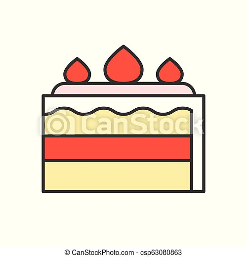 food and gastronomy set, filled outline icon - csp63080863
