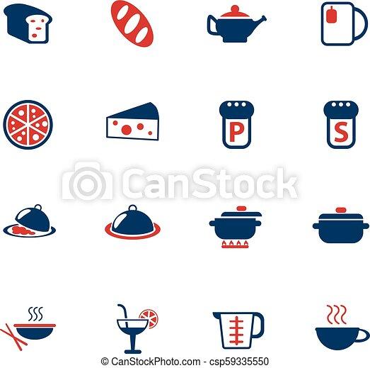 food and kitchen icon set - csp59335550