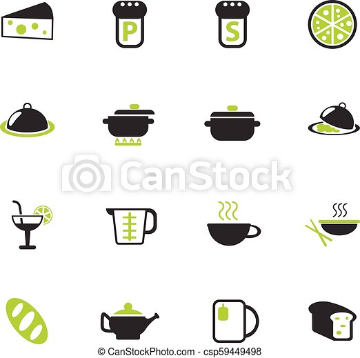 food and kitchen icon set - csp59449498