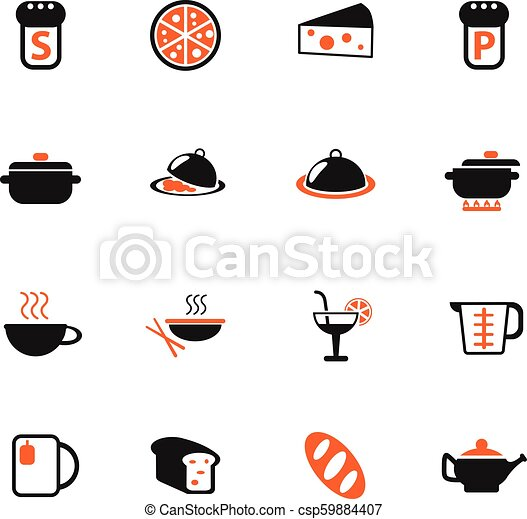 food and kitchen icon set - csp59884407