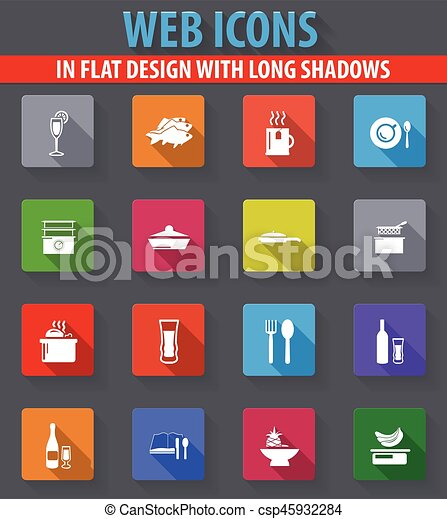 Food and kitchen icons set - csp45932284