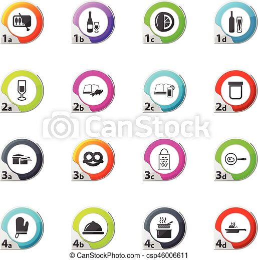 Food and kitchen icons set - csp46006611