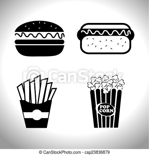 Food and restaurant design, vector illustration. - csp23836879