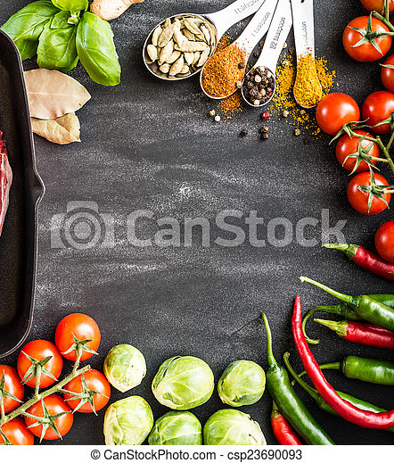 food background  - csp23690093