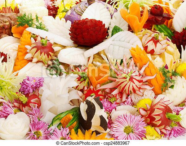 Food carving - csp24883967