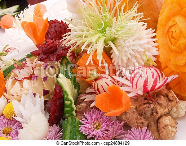 Food carving - csp24884129