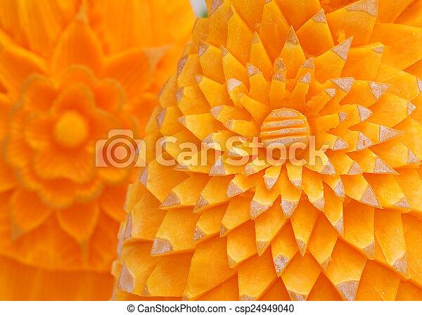 Food carving - csp24949040