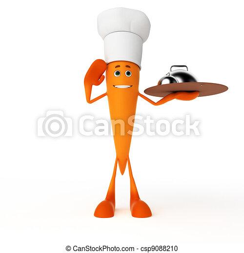 Food character - carrot - csp9088210