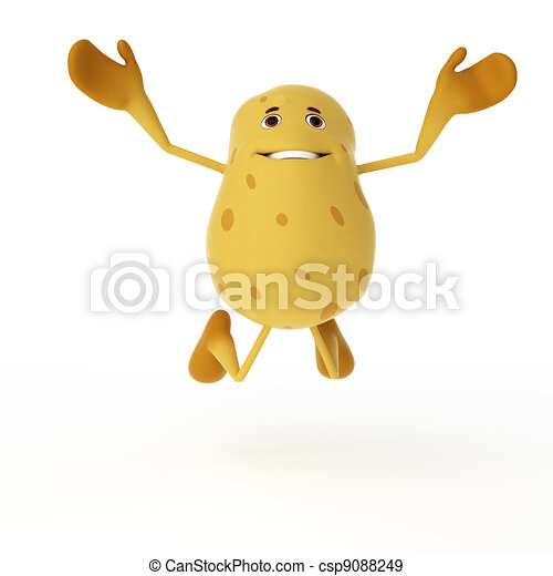 Food character - potato - csp9088249