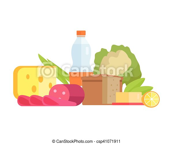 Food Concept Illustration in Flat Style Design. - csp41071911
