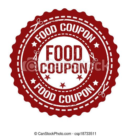Food coupon stamp. Food coupon grunge rubber stamp on ...