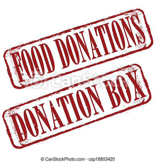 food donations stamp - csp18803420