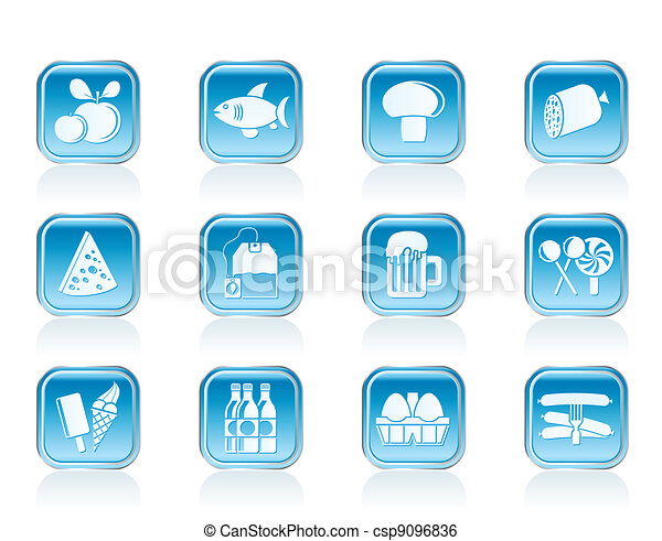 food, drink and shop icons - csp9096836