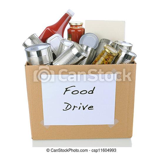 Food Drive Box - csp11604993