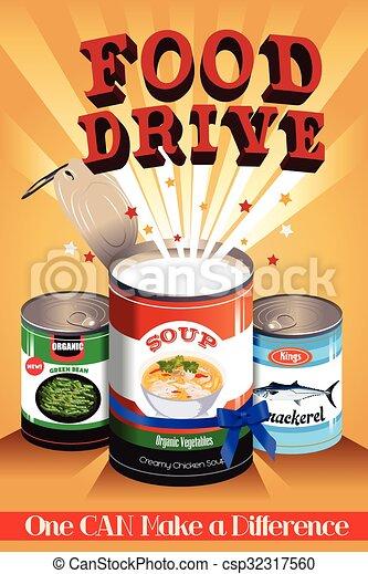 Food Drive Poster - csp32317560