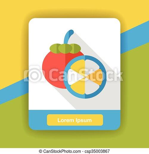 food fruits flat icon - csp35003867