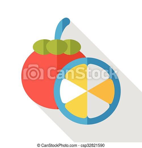 food fruits flat icon - csp32821590