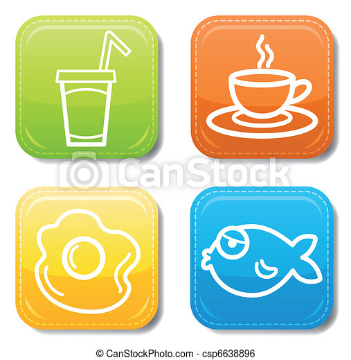 Food icon color set - csp6638896