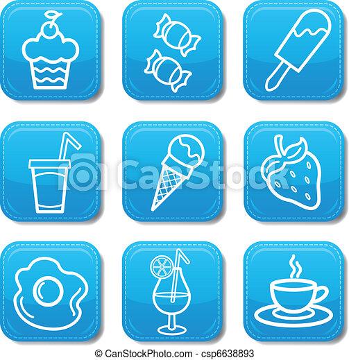 Food icon color set - csp6638893
