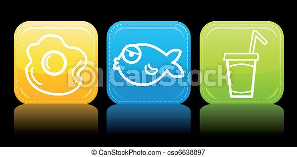 Food icon color set - csp6638897