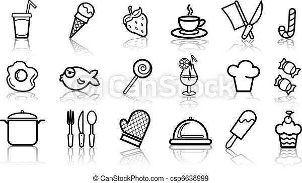 Food icon set - csp6638999