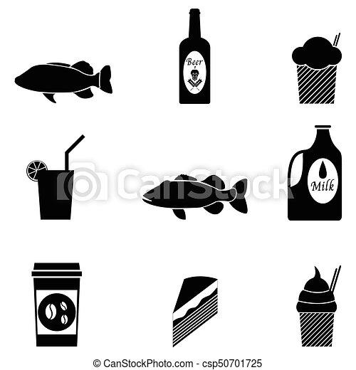 food icon set - csp50701725