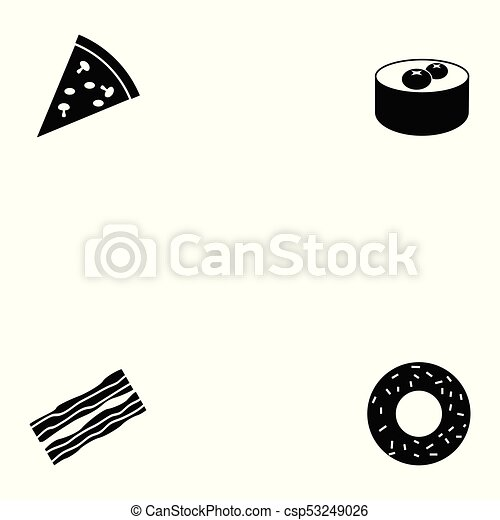 food icon set - csp53249026