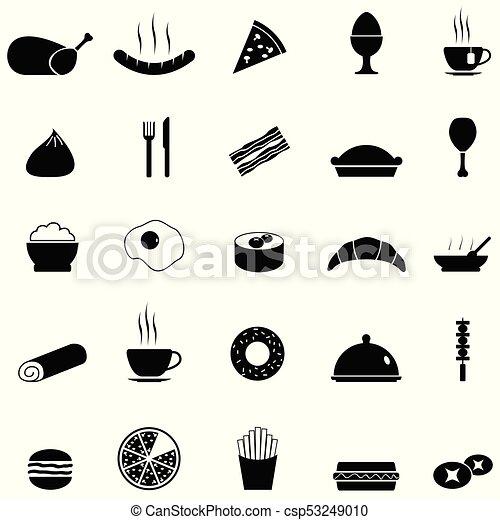 food icon set - csp53249010
