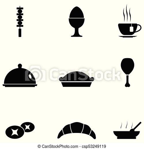 food icon set - csp53249119