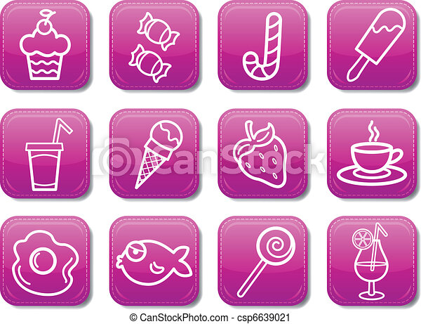 Food icon set - csp6639021