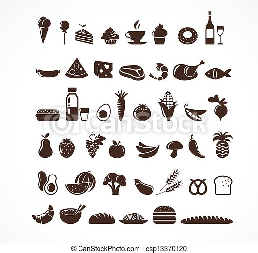 Food icons and elements - csp13370120