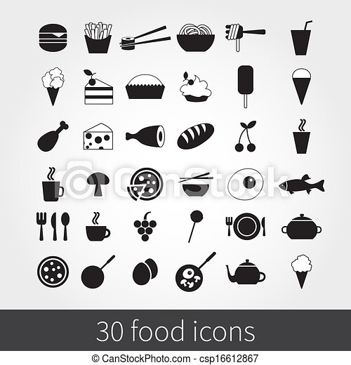 food icons - csp16612867
