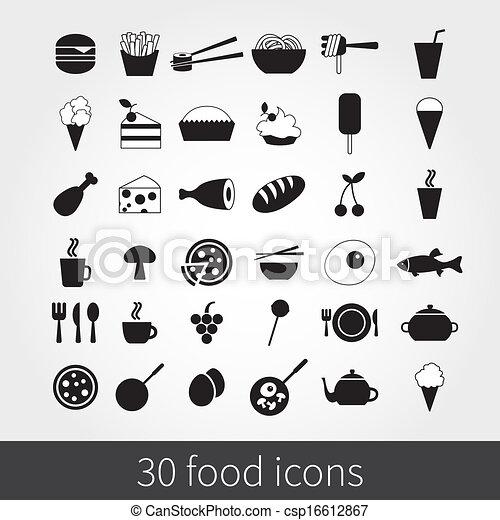 food icons - csp16612867