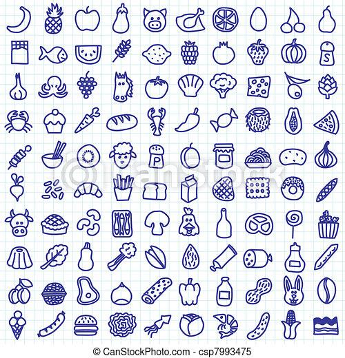 food icons - csp7993475