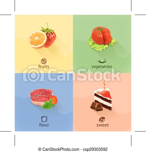 Food icons - csp29303592