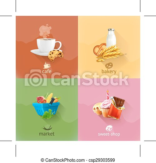 Food icons - csp29303599