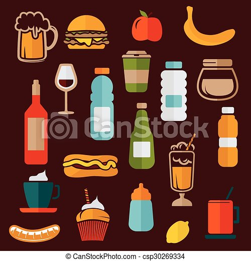 Food icons - food labels - csp30269334