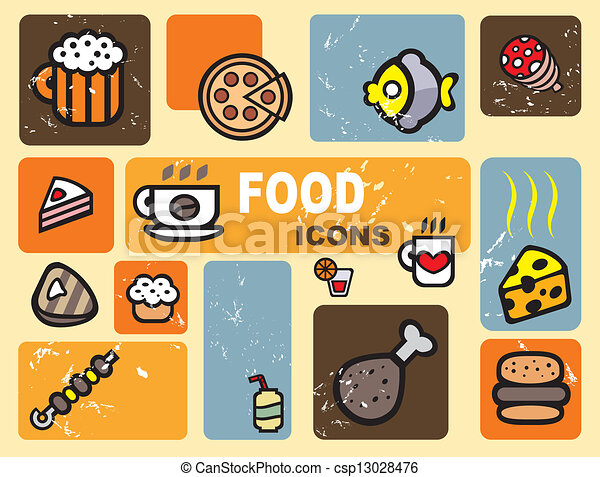 food icons - csp13028476