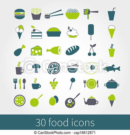food icons - csp16612871