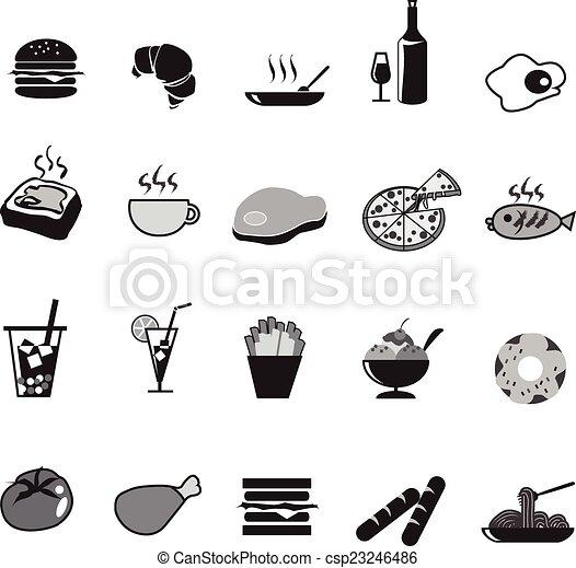 food icons set - csp23246486