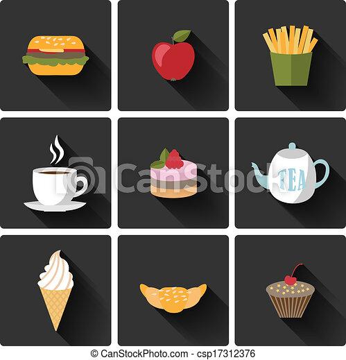 Food icons set - csp17312376