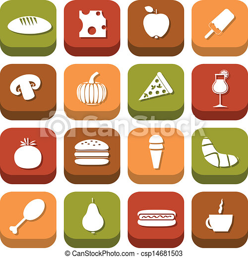 food icons - csp14681503