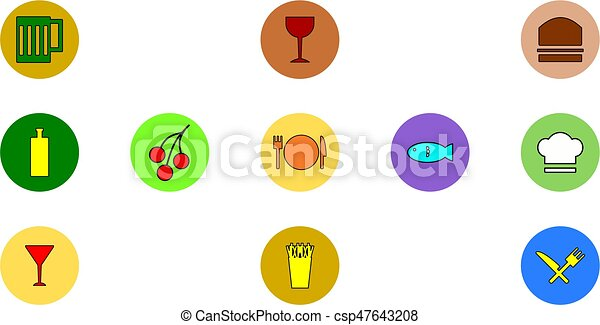 Food icons - csp47643208