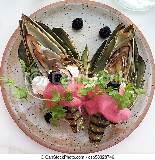 food on a plate - csp58328746