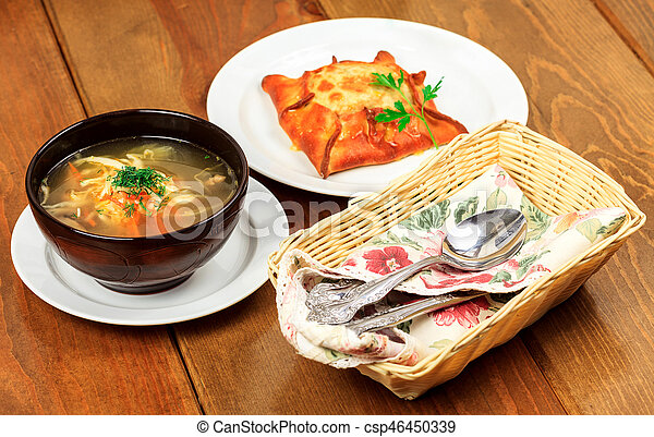 Food on a table - csp46450339