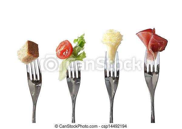 Food on forks - csp14492194